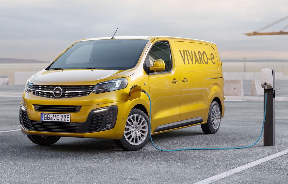Opel a prezentat versiunea electrică a utilitarei Vivaro: 136 de cai putere și autonomie de până la 330 de kilometri - Poza 1