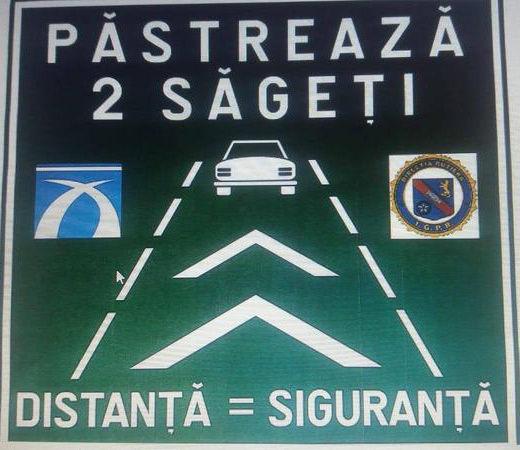 Proiect pilot pe autostrăzile din România: săgeți de avertizare pentru păstrarea distanței de siguranță între mașini - Poza 2