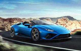 Lamborghini a prezentat noua versiune Huracan Evo Spyder RWD: 610 CP și 0-100 km/h în 3.5 secunde pentru supercar-ul cu roți motrice spate