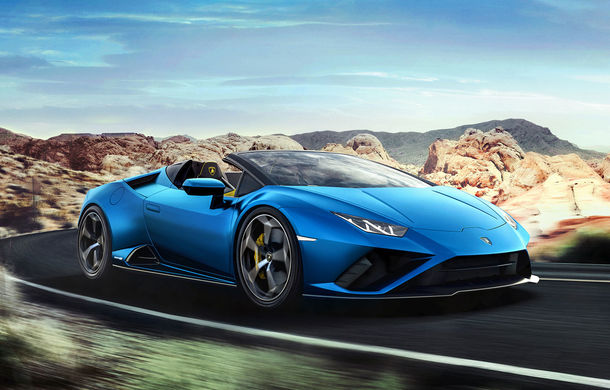 Lamborghini a prezentat noua versiune Huracan Evo Spyder RWD: 610 CP și 0-100 km/h în 3.5 secunde pentru supercar-ul cu roți motrice spate - Poza 1