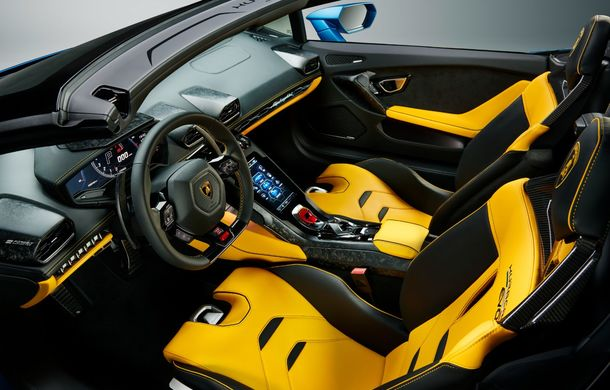 Lamborghini a prezentat noua versiune Huracan Evo Spyder RWD: 610 CP și 0-100 km/h în 3.5 secunde pentru supercar-ul cu roți motrice spate - Poza 11