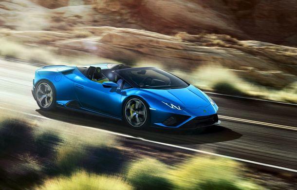 Lamborghini a prezentat noua versiune Huracan Evo Spyder RWD: 610 CP și 0-100 km/h în 3.5 secunde pentru supercar-ul cu roți motrice spate - Poza 2