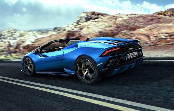 Lamborghini a prezentat noua versiune Huracan Evo Spyder RWD: 610 CP și 0-100 km/h în 3.5 secunde pentru supercar-ul cu roți motrice spate - Poza 3