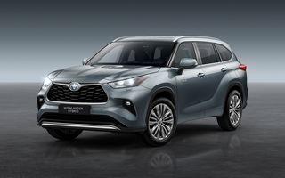 Toyota lansează Highlander în Europa: SUV-ul cu șapte locuri va avea doar versiune cu sistem hibrid de propulsie