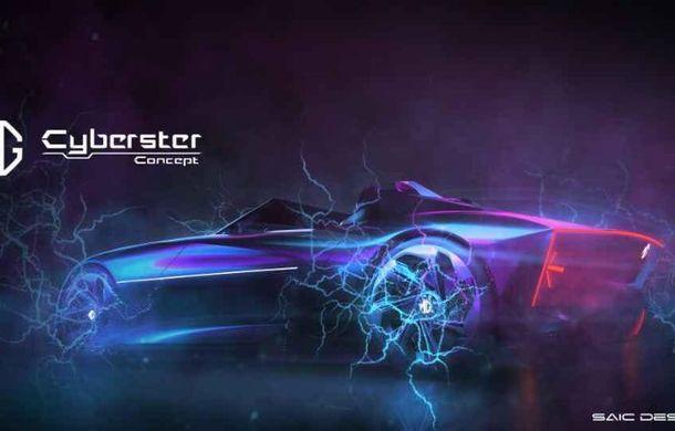 Primele schițe cu viitorul MG Cyberster: prototip electric cu două locuri și design inspirat de clasicul MGB - Poza 2