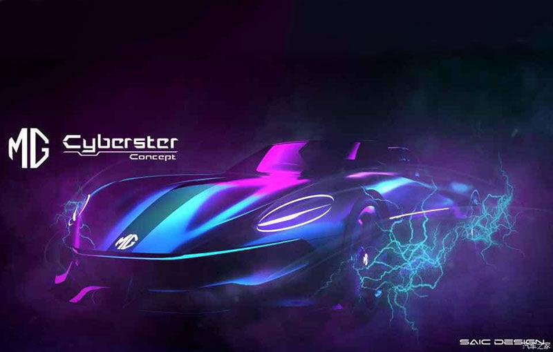 Primele schițe cu viitorul MG Cyberster: prototip electric cu două locuri și design inspirat de clasicul MGB - Poza 1