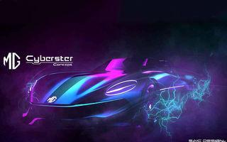 Primele schițe cu viitorul MG Cyberster: prototip electric cu două locuri și design inspirat de clasicul MGB
