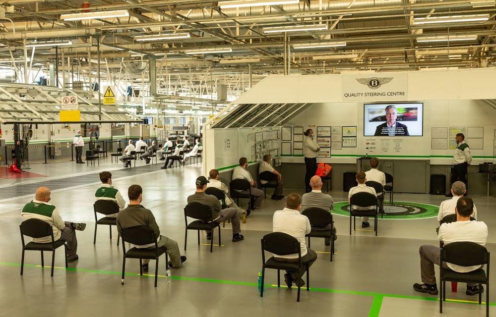 Bentley a reluat activitatea la uzina din Crewe: măsuri suplimentare pentru protejarea angajaților și capacitate de producție redusă la jumătate - Poza 7