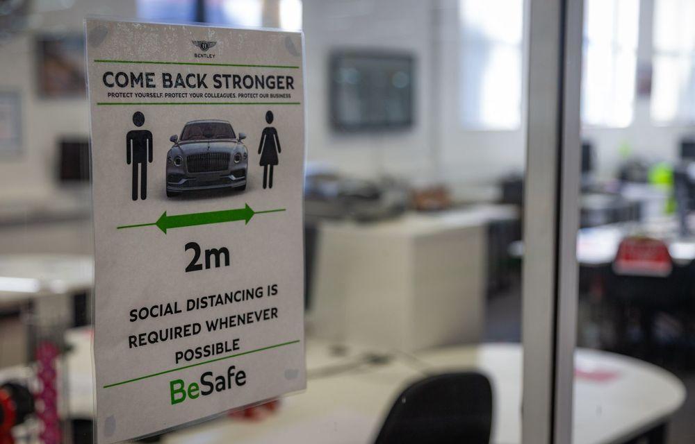Bentley a reluat activitatea la uzina din Crewe: măsuri suplimentare pentru protejarea angajaților și capacitate de producție redusă la jumătate - Poza 9