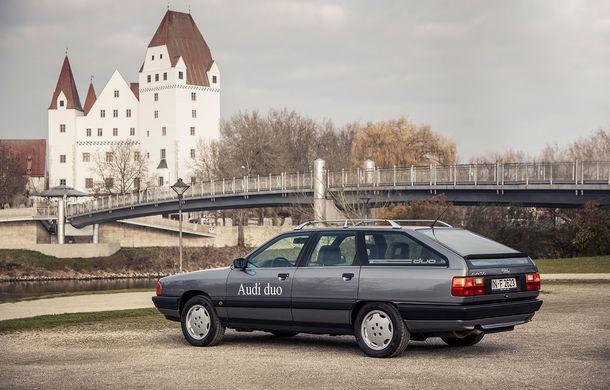 Peste 30 de ani de la debutul conceptului Audi duo: primul plug-in hybrid al nemților avea la bază modelul Audi 100 Avant - Poza 1