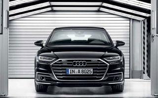 Audi a lansat noul A8 L Security: versiunea blindată a limuzinei germane rezistă la gloanțe și explozii