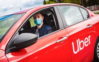 Uber introduce măsuri de siguranță în România din 18 mai: șoferii și utilizatorii, obligați să poarte mască de protecție