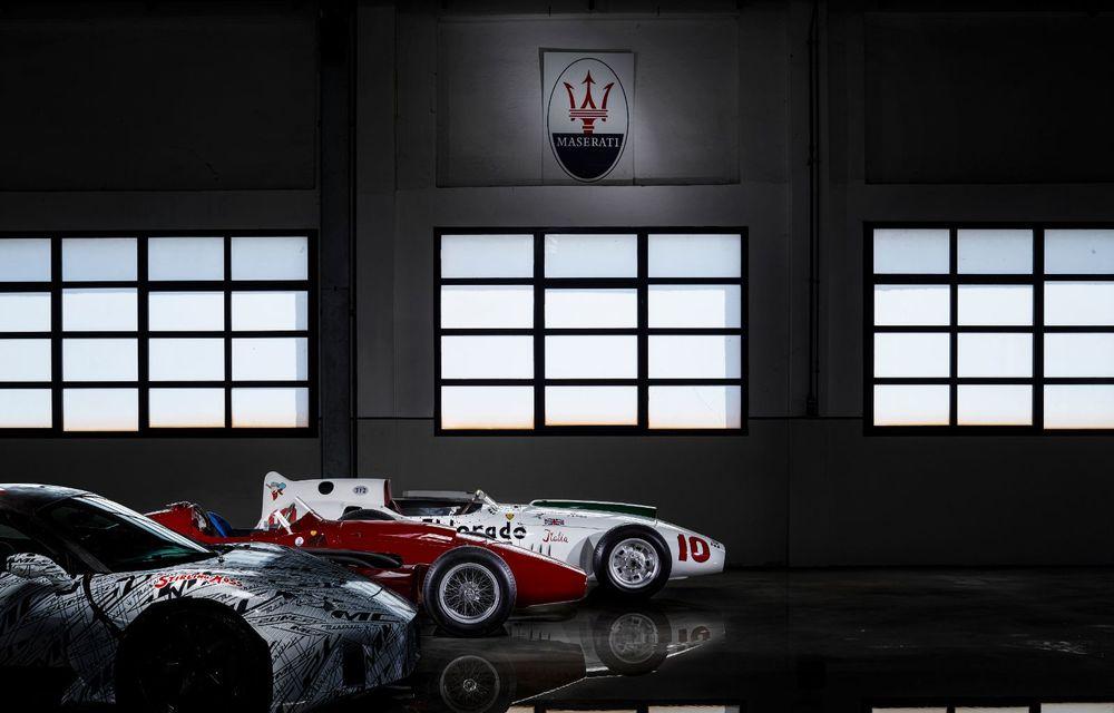 Imagini noi cu prototipul viitorului Maserati MC20: italienii au pregătit un exemplar inspirat de Maserati Eldorado, monopostul pilotat de Sir Stirling Moss - Poza 3