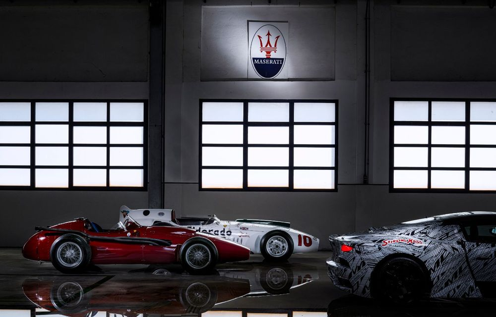 Imagini noi cu prototipul viitorului Maserati MC20: italienii au pregătit un exemplar inspirat de Maserati Eldorado, monopostul pilotat de Sir Stirling Moss - Poza 4