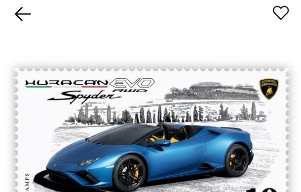 Lamborghini a pregătit un timbru digital cu noul Huracan Evo Spyder RWD: ediție limitată la 20.000 de unități - Poza 2