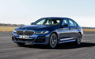 BMW Seria 5 facelift: modificări exterioare minore, îmbunătățiri pentru interior și două versiuni plug-in hybrid