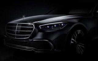Prima imagine cu viitoarea generație Mercedes-Benz Clasa S: modelul va fi lansat în a doua parte a anului. Versiunea electrică EQS sosește în 2021