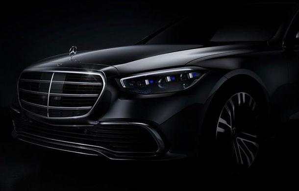 Prima imagine cu viitoarea generație Mercedes-Benz Clasa S: modelul va fi lansat în a doua parte a anului. Versiunea electrică EQS sosește în 2021 - Poza 1