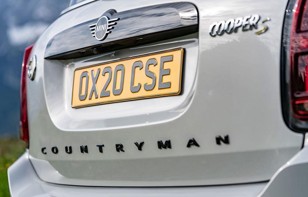 Mini Countryman facelift a fost prezentat oficial: britanicii propun îmbunătățiri exterioare, accesorii noi de interior și versiune plug-in hybrid cu autonomie electrică de până la 61 de kilometri - Poza 125