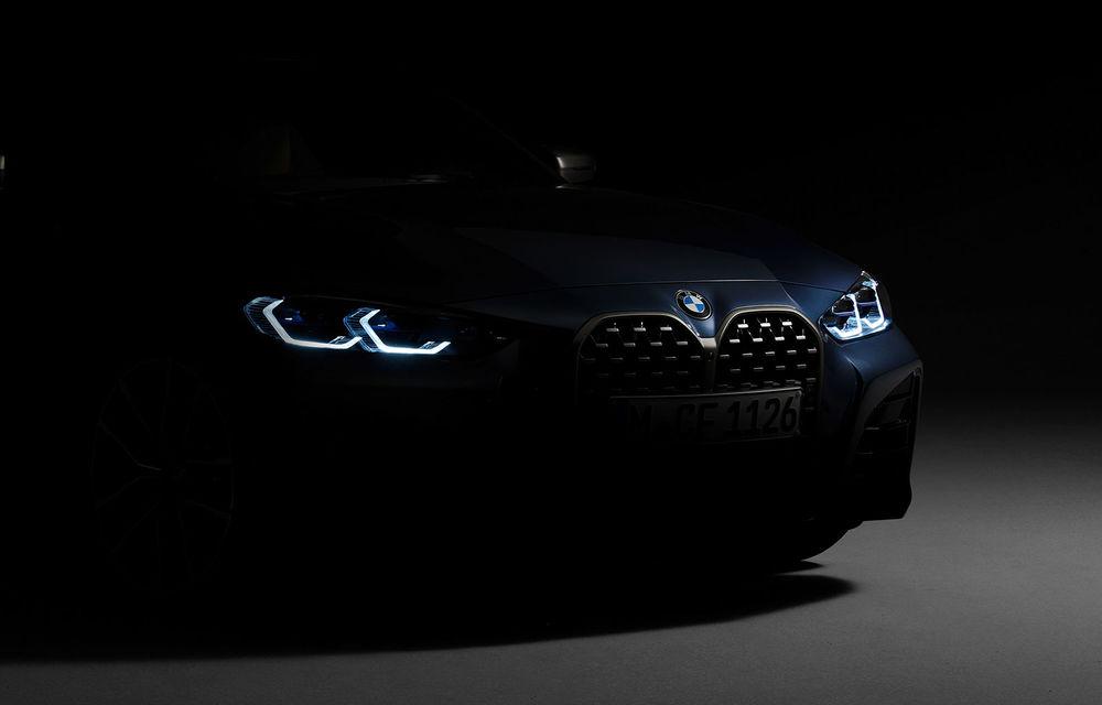 Primul teaser cu viitoarea generație BMW Seria 4: coupe-ul va fi lansat în 2 iunie - Poza 1