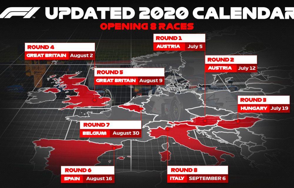 Formula 1 a publicat calendarul primelor 8 curse ale sezonului: start în Austria în 5 iulie - Poza 2