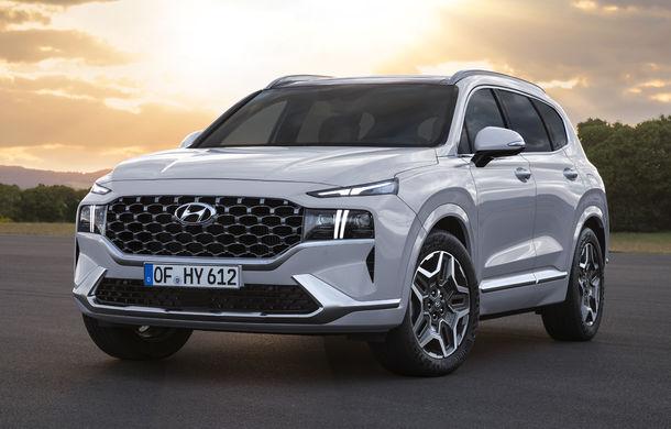 Primele imagini cu Hyundai Santa Fe facelift: design îmbunătățit, platformă nouă și versiune plug-in hybrid - Poza 1