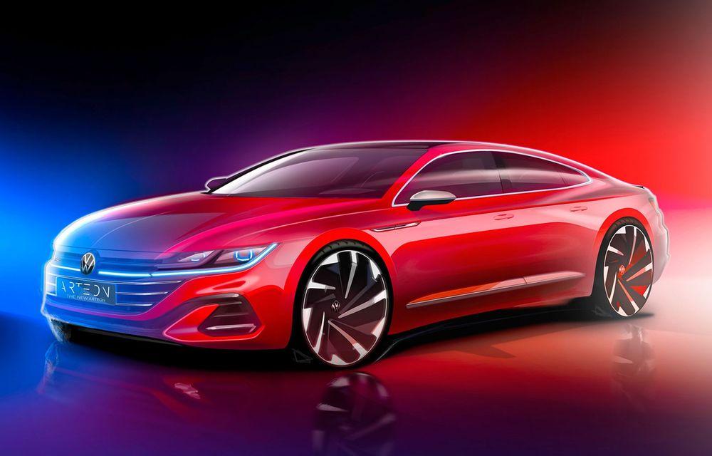 Volkswagen pregătește facelift și versiune Shooting Brake pentru Arteon: premieră mondială în 24 iunie - Poza 1