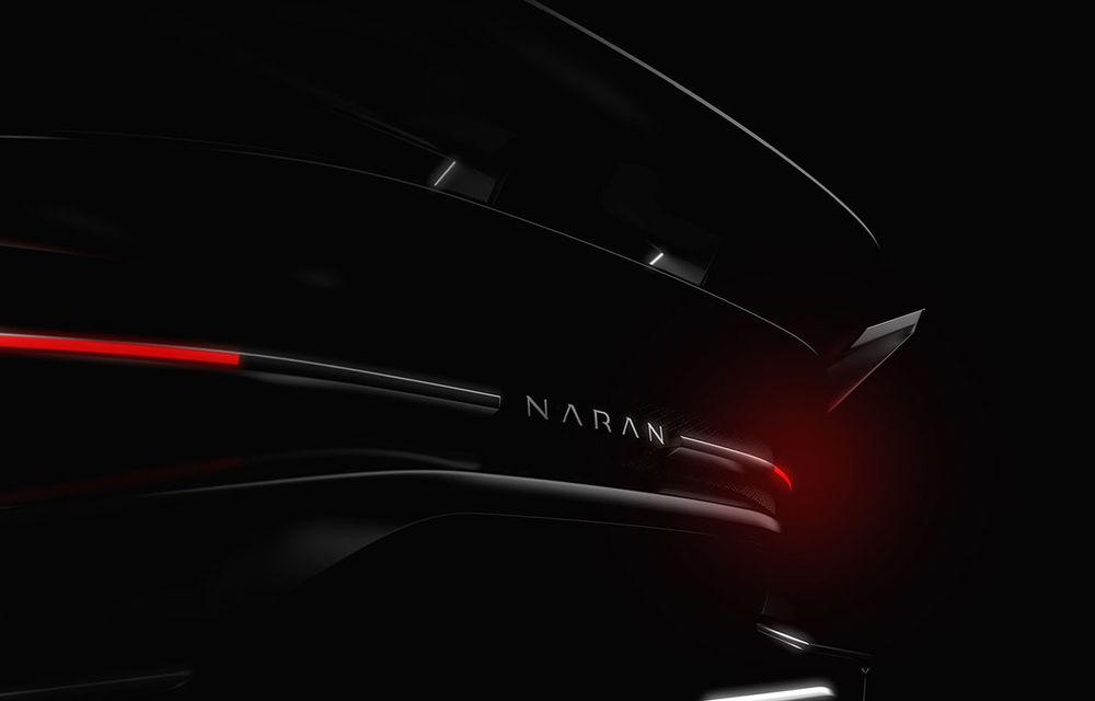 Primele teasere cu viitorul hypercar pregătit de start-up-ul Naran Automotive: motor V8 de 5.0 litri cu peste 1.000 CP - Poza 2