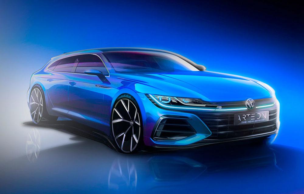 Video. Viitorul Volkswagen Arteon Shooting Brake, surprins în timpul testelor: modelul va fi prezentat în 24 iunie - Poza 1