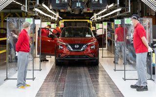 """Nissan a repornit producția la uzina din Sunderland: """"Rețeaua de dealeri este redeschisă în proporție de 95%"""""""