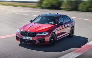 BMW a prezentat M5 și M5 Competition facelift: noutăți estetice și ecran central de 12.3 inch pentru versiunile de performanță
