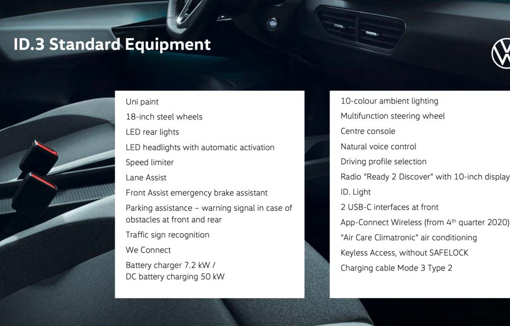 Confirmare oficială: primele exemplare Volkswagen ID.3 vor fi livrate în septembrie. Prețuri în creștere pentru ediția de lansare ID.3 1st - Poza 3