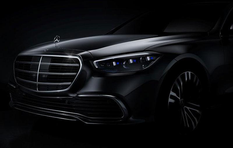 Viitorul Mercedes-Benz Clasa S va fi prezentat în luna septembrie: motorul V12 va fi păstrat în gamă - Poza 1