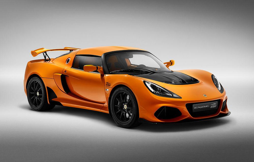 Lotus Exige împlinește 20 de ani de la debut: britanicii au pregătit o ediție aniversară dezvoltată pe baza versiunii Exige Sport 410 - Poza 1