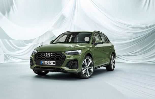 Audi a prezentat Q5 facelift: stopuri cu OLED, îmbunătățiri pentru interior și motorizare diesel mild-hybrid - Poza 1