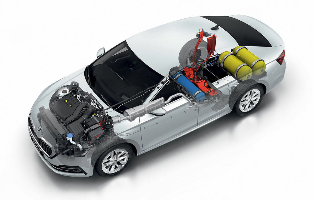 Noua generație Skoda Octavia primește o versiune cu gaz natural comprimat: motor turbo de 1.5 litri și 131 de cai putere - Poza 2