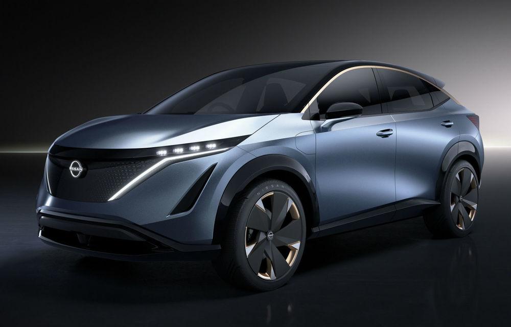 Nissan pregătește versiunea de serie pentru conceptul Ariya: noul SUV electric va fi prezentat oficial în 15 iulie - Poza 1