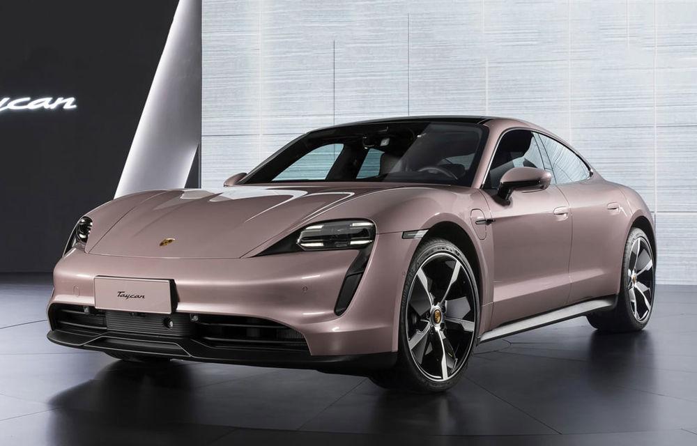 """Porsche Taycan are o nouă versiune de bază în China: modelul electric va fi disponibil în varianta simplă """"Taycan"""" și va avea o autonomie de până la 490 de kilometri - Poza 1"""
