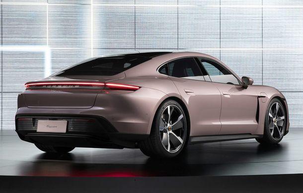 """Porsche Taycan are o nouă versiune de bază în China: modelul electric va fi disponibil în varianta simplă """"Taycan"""" și va avea o autonomie de până la 490 de kilometri - Poza 5"""