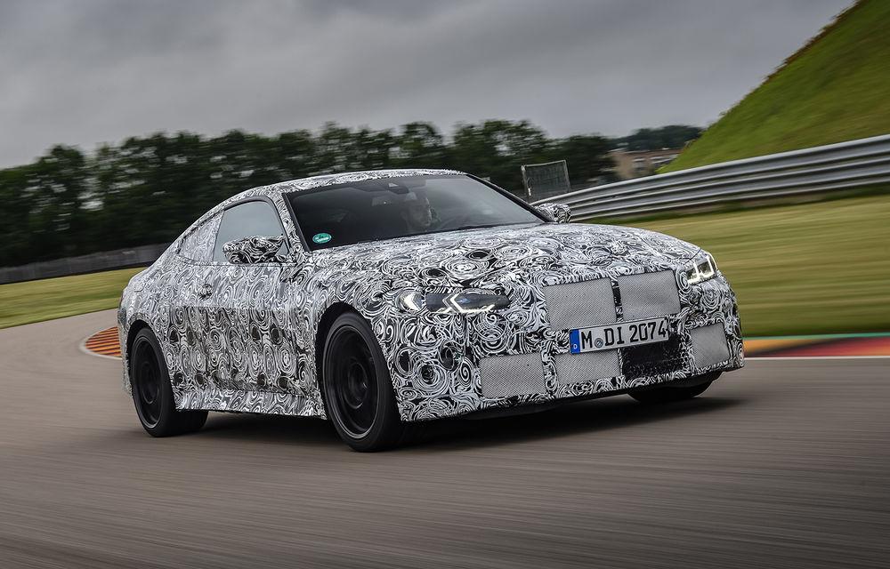 Primele imagini camuflate cu noile generații BMW M3 și M4 Coupe: modelele de performanță vor fi prezentate la jumătatea lunii septembrie - Poza 1