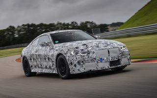 Primele imagini camuflate cu noile generații BMW M3 și M4 Coupe: modelele de performanță vor fi prezentate la jumătatea lunii septembrie