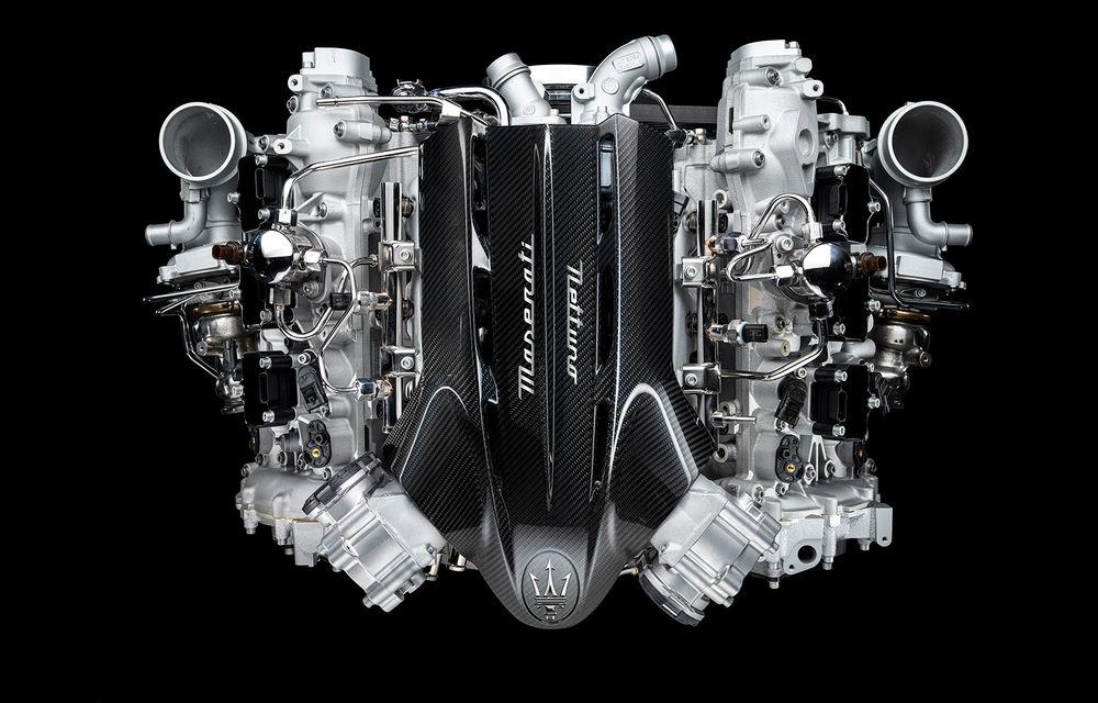 Primele informații despre noul motor V6 dezvoltat de Maserati: 630 de cai putere și 730 Nm - Poza 1
