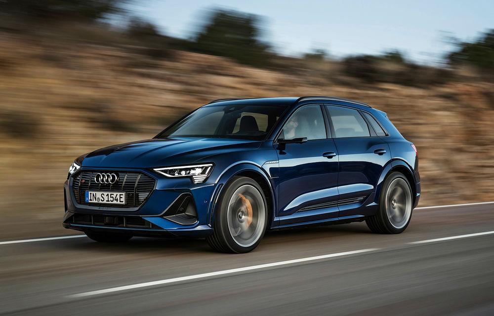 Primele imagini cu noile Audi e-tron S și e-tron S Sportback: trei motoare electrice și autonomie de până la 365 de kilometri - Poza 1