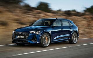 Primele imagini cu noile Audi e-tron S și e-tron S Sportback: trei motoare electrice și autonomie de până la 365 de kilometri