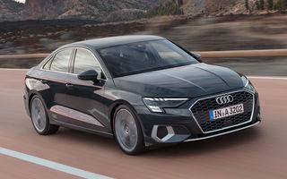 Prețuri pentru noua generație Audi A3 Sedan: start de la peste 28.600 de euro