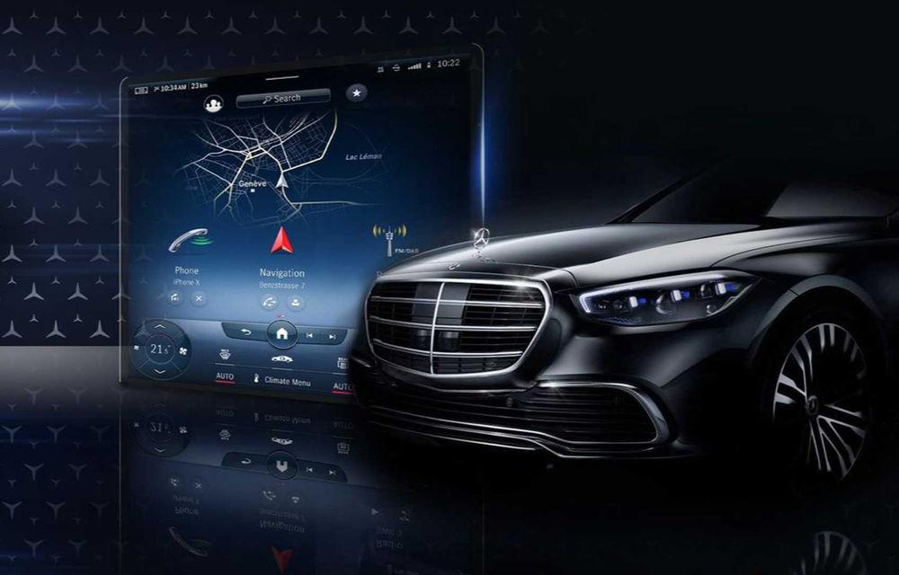 Prima imagine cu noua versiune a sistemului de infotainment MBUX de la Mercedes-Benz pentru Clasa S: prezentarea oficială va avea loc în 8 iulie - Poza 1
