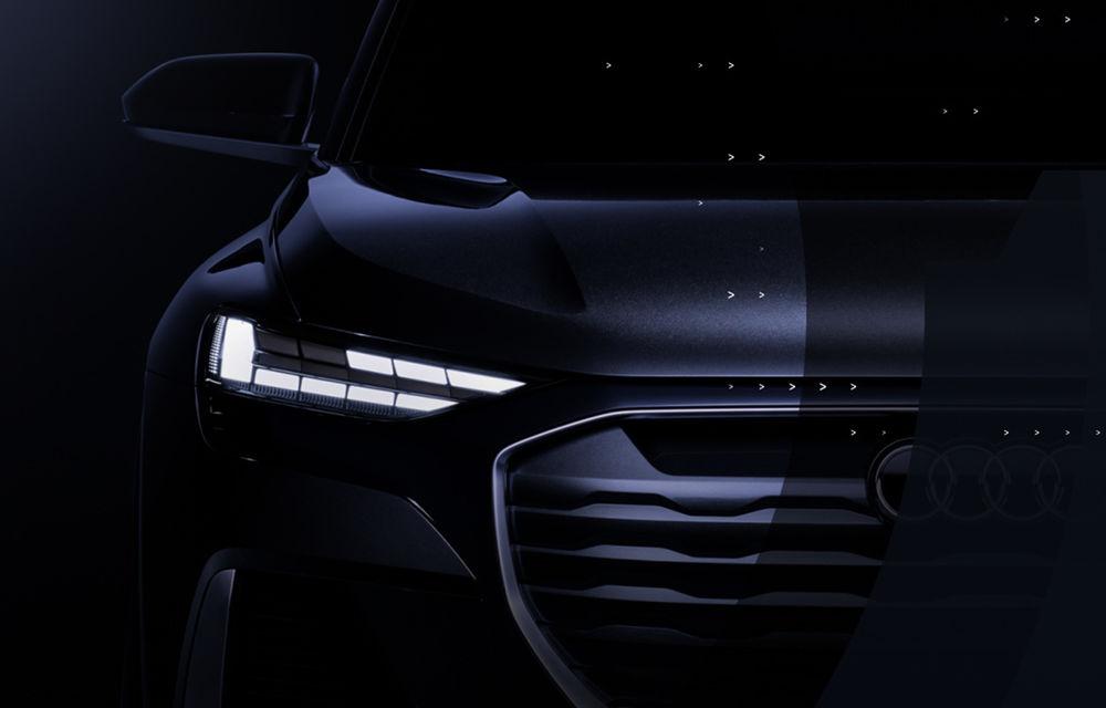 Primul teaser video cu viitorul Audi Q4 Sportback e-tron Concept: prototipul electric va fi prezentat în 7 iulie - Poza 1
