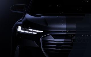Primul teaser video cu viitorul Audi Q4 Sportback e-tron Concept: prototipul electric va fi prezentat în 7 iulie