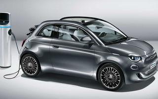 Fiat dă startul comenzilor pentru 500 electric cabrio: modelul electric are 120 de cai putere și autonomie de 320 de kilometri