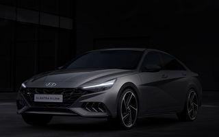 Primele imagini cu Hyundai Elantra N Line: design mai agresiv pentru sedanul constructorului asiatic